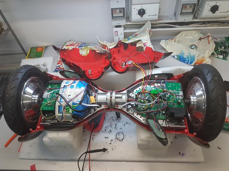 фото до и после ремонта гироскутера Hiper
