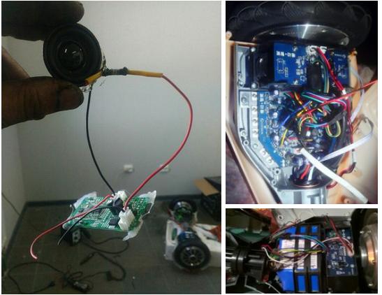 до и после ремонта гироскутера в мастерской Hiper